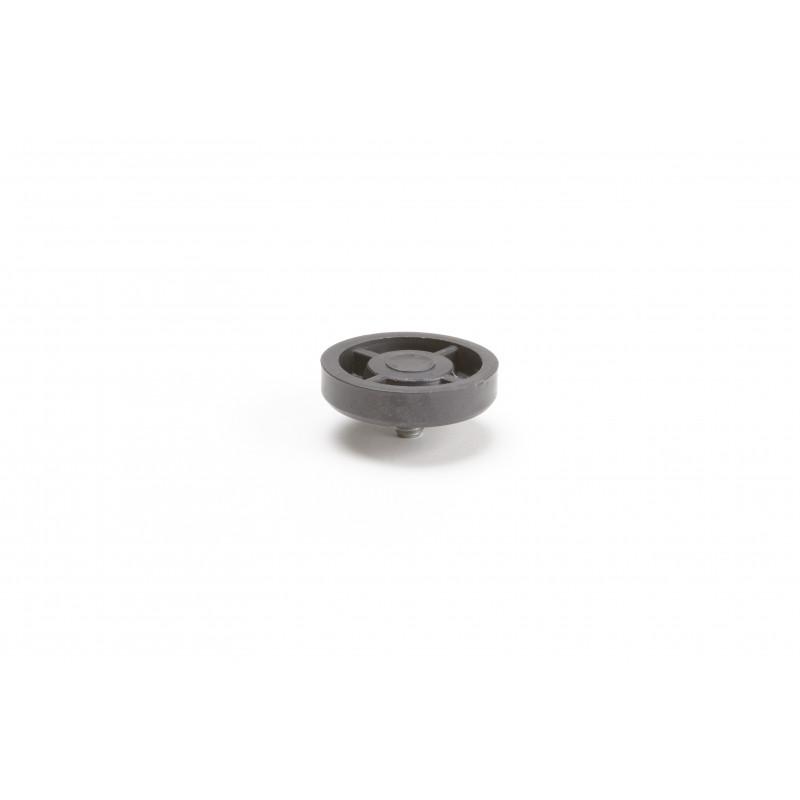Leg round H-21,5mm, Ø44mm, thread M8x10, plastic,...