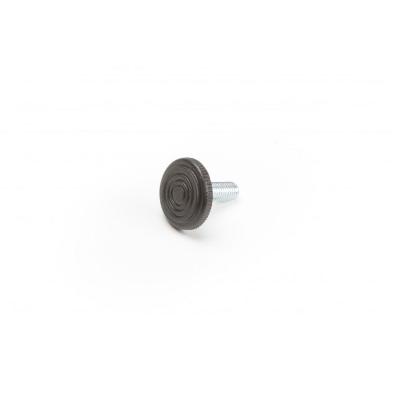 Leg round H-30mm, Ø28mm, thread M8x22, steel,...