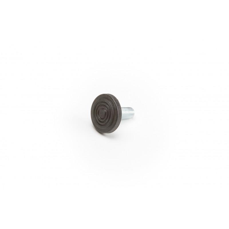 Leg round H-34mm, Ø30mm, thread M10x25, steel,...