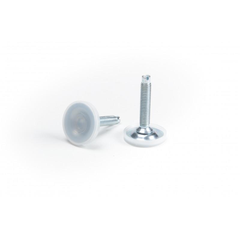 Leg round H-50mm, Ø30mm, thread M8x50, steel,...