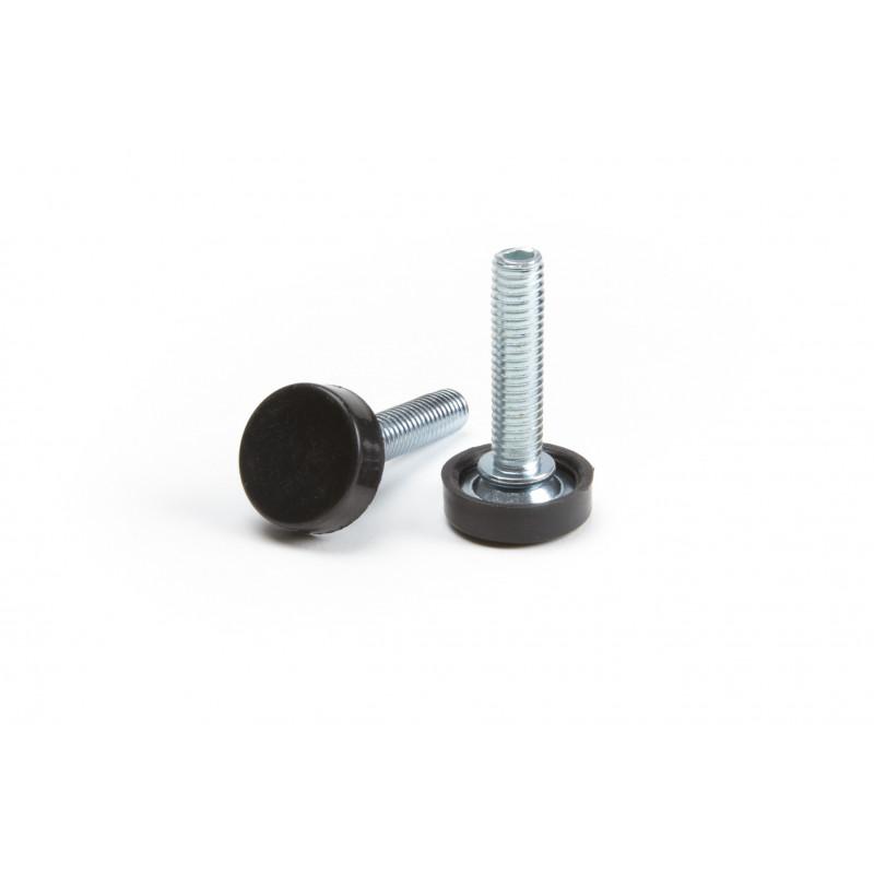 Leg round H-40mm, Ø22mm, thread M8x33, steel,...