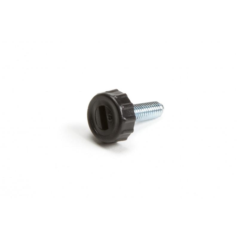 Leg round H-27mm, Ø16mm, thread M6x21, steel,...