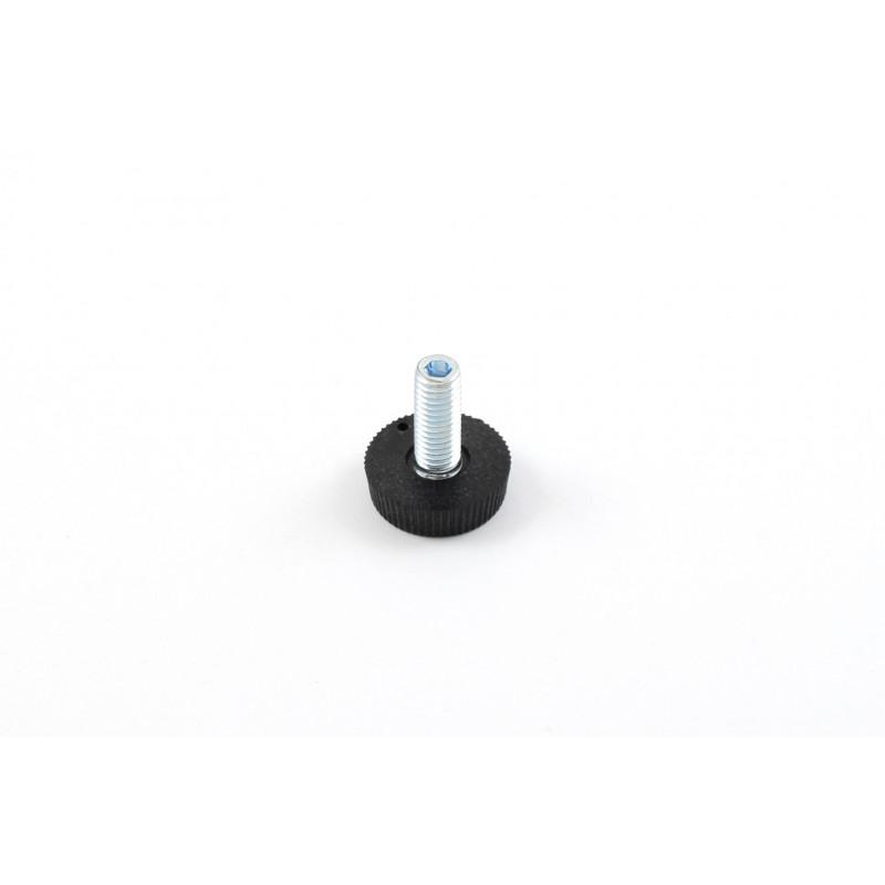 Leg round H-27mm, Ø25mm, thread M8x20, steel,...