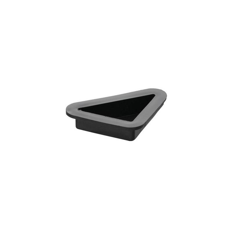 Leg triangle H-25mm, 57x57x25mm, plastic, black