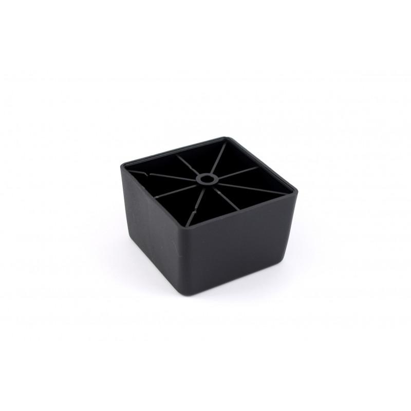 Leg square H-45mm, 70x70mm, plastic, black