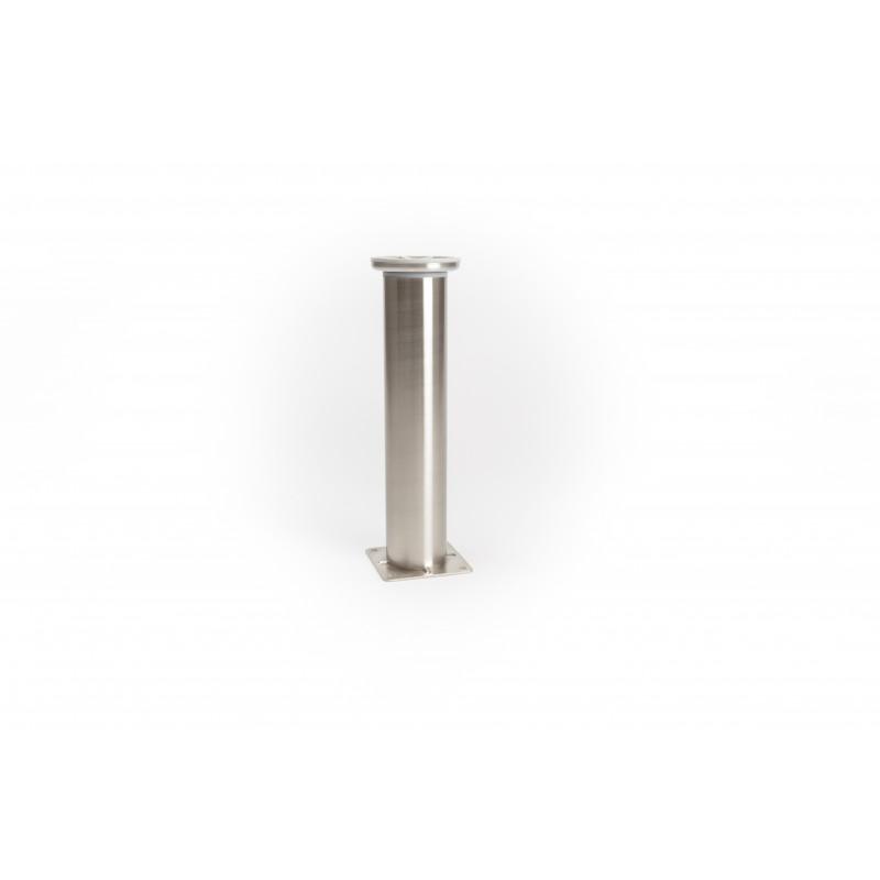 Leg round H-255mm, Ø51mm, steel, polished, nickel, pad...