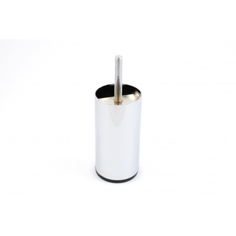 Leg round H-100mm, Ø50mm, thread M8x42, steel, chrome...