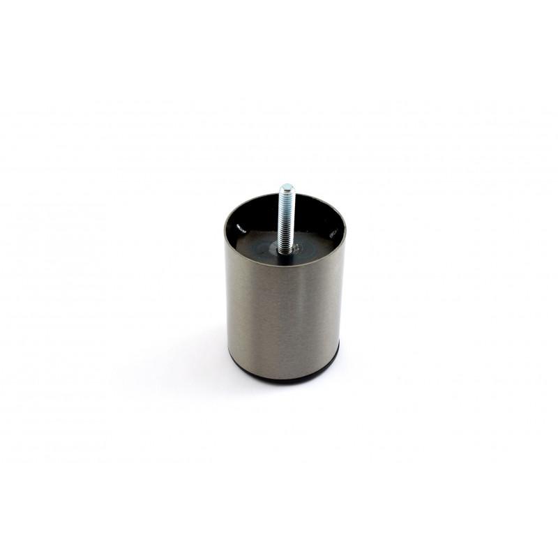Leg round H-80mm, Ø60mm, thread M8x25, steel, brushed...