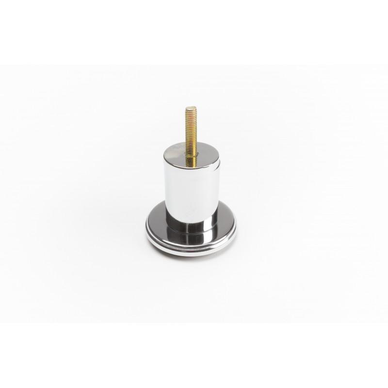 Leg round H-65mm, Ø38mm, thread M8x30, steel, chrome...
