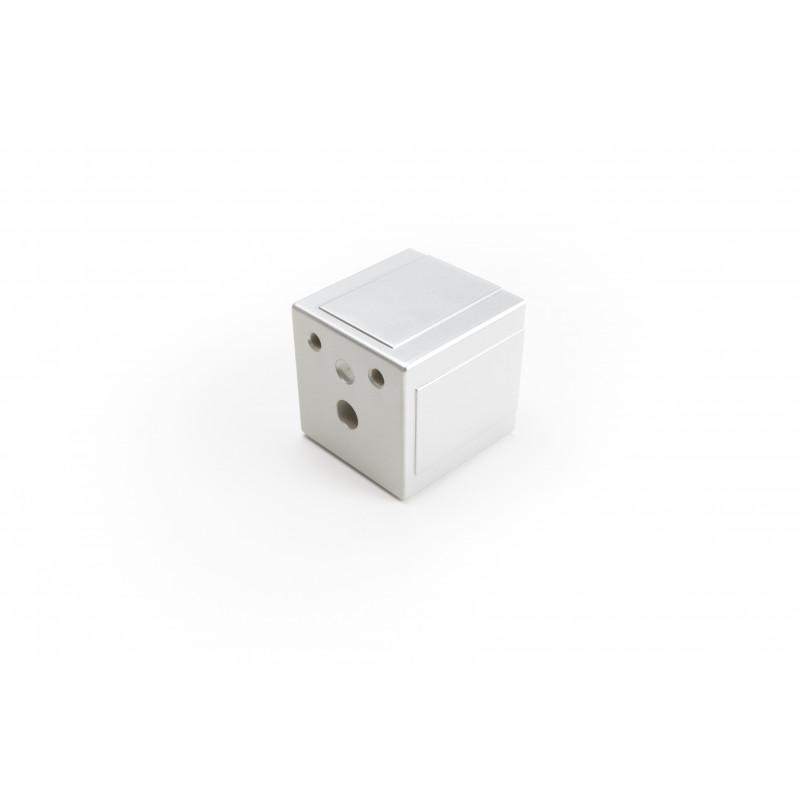 Leg square H-61mm, 62x62mm, plastic, chrome plated, matt
