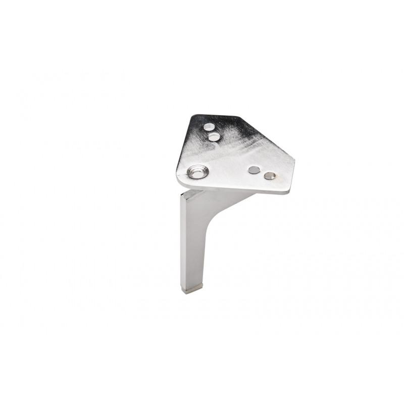 Leg H-135mm, 105x105mm, steel, chrome plated