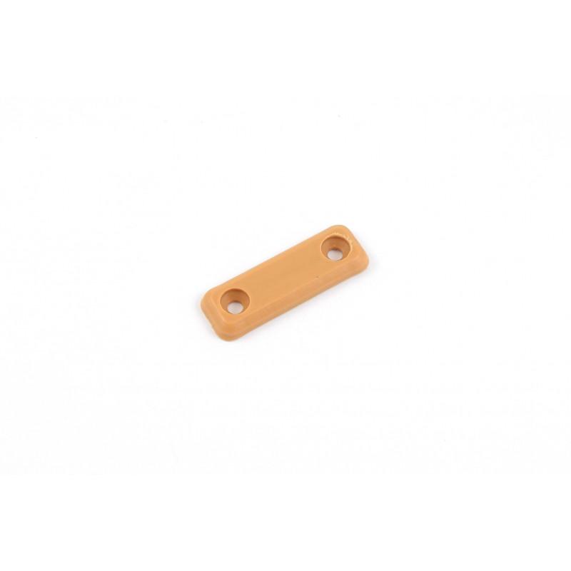 Plastic pad 48x16x4.5mm, screwed, beech