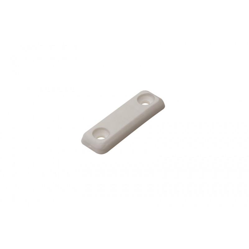 Padukas 48x15x5mm, plastikinis, prisukamas, baltas