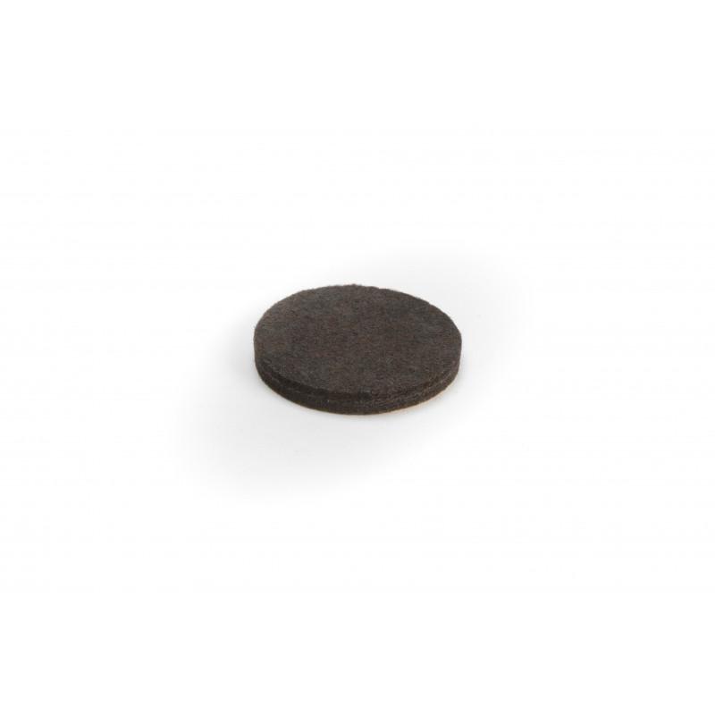Felt pad Ø50x6mm, adhesive, brown