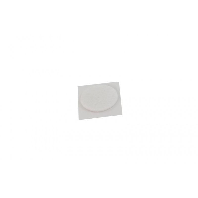 Felt pad Ø28mm, adhesive, white