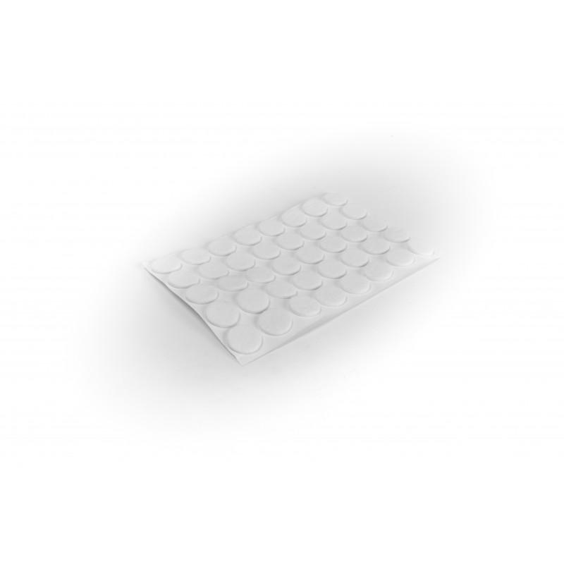 Felt pad Ø18mm, adhesive, white