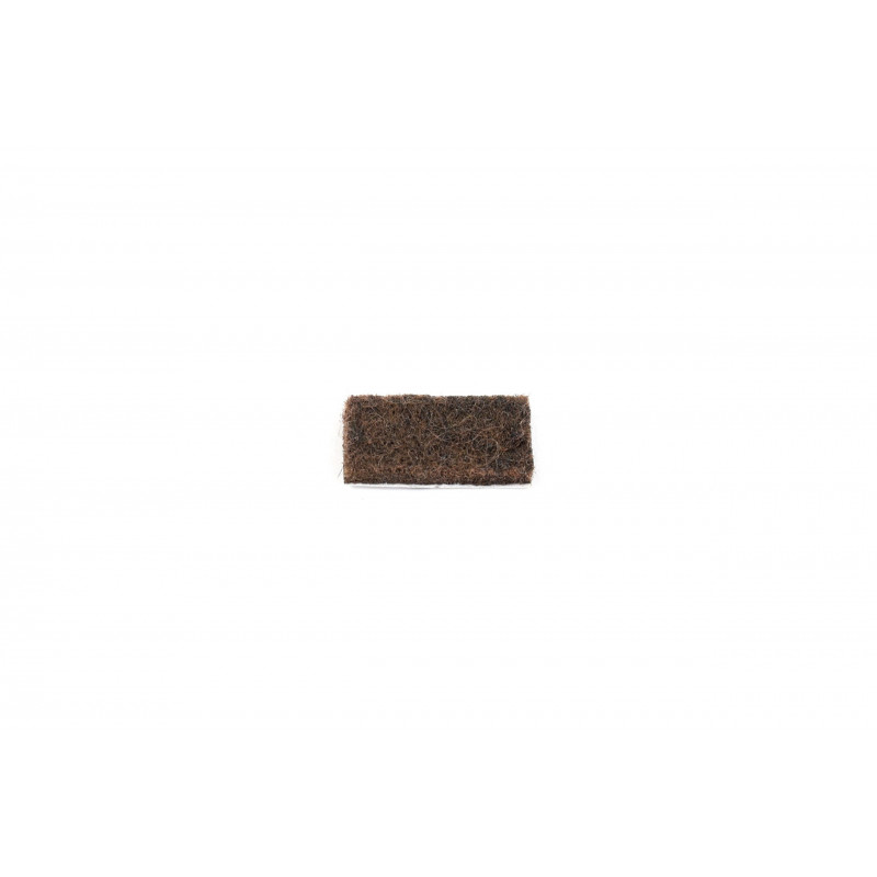 Felt pad 20x10mm, adhesive, brown