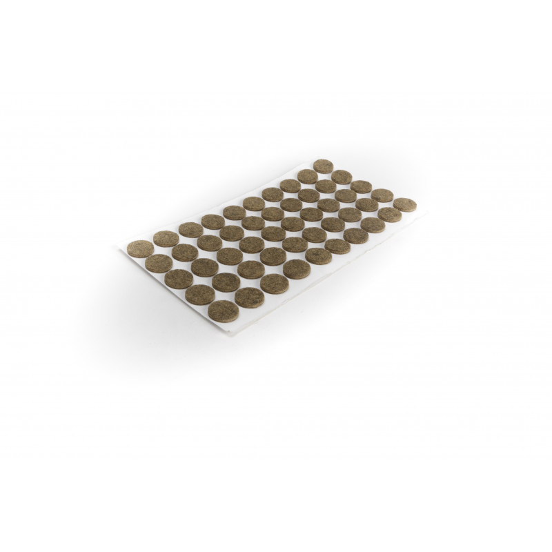 Felt pad Ø16mm, adhesive, brown