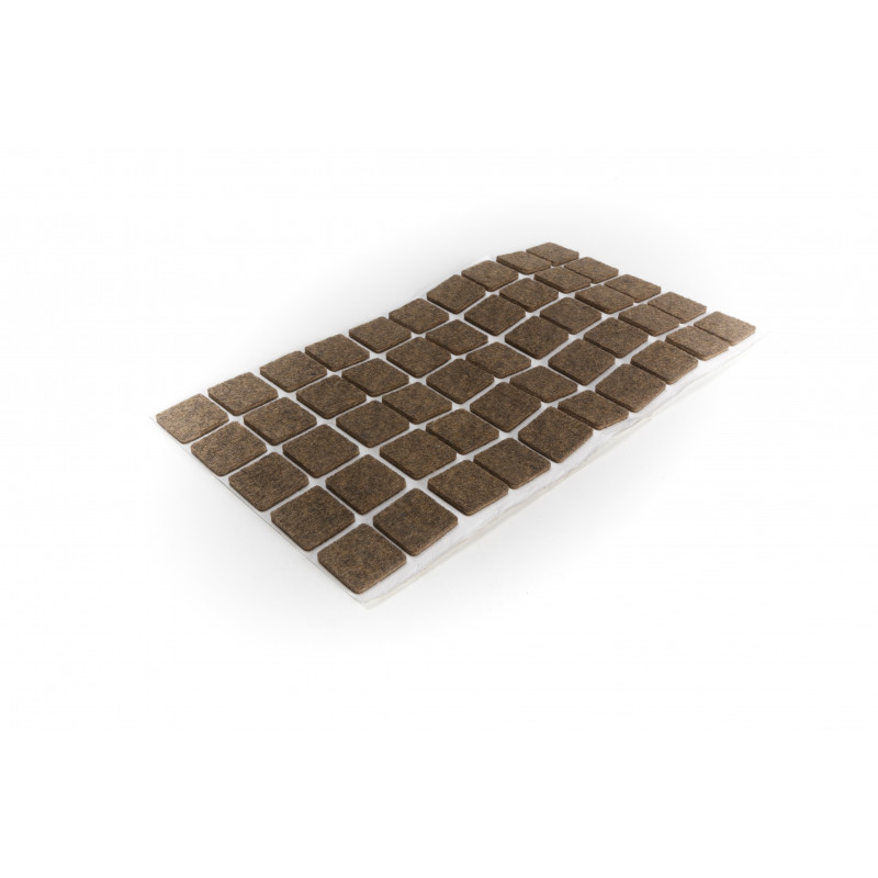 Felt pad 20x20mm, adhesive, brown