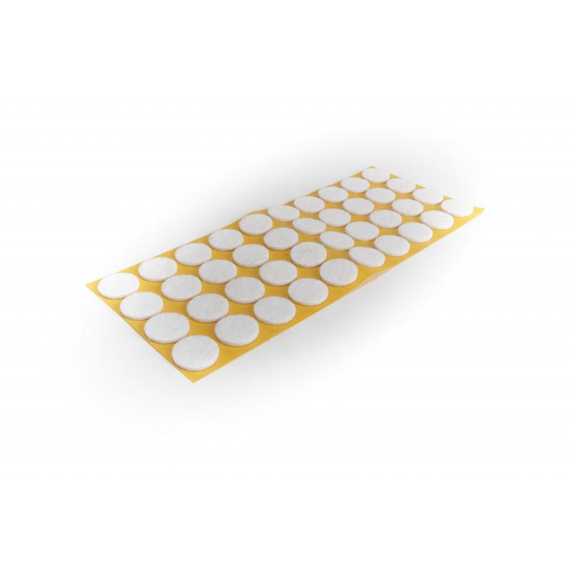 Felt pad Ø20mm, adhesive, white