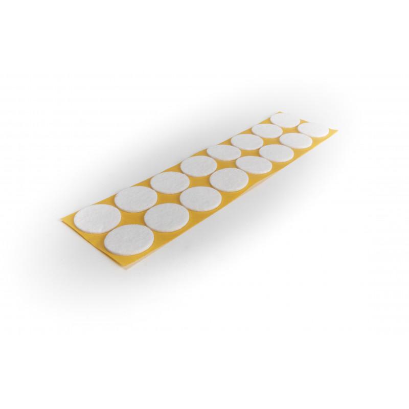 Felt pad Ø35mm, adhesive, white