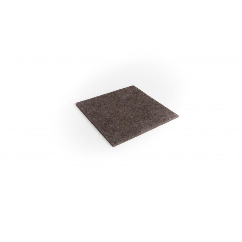 Felt pad 100x100mm, adhesive, brown