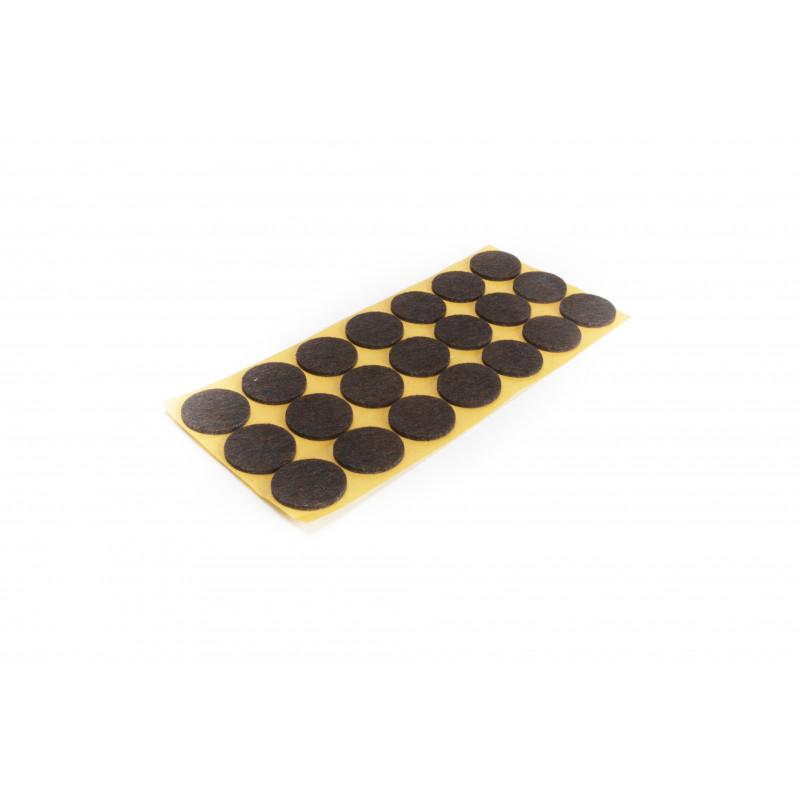 Felt pad Ø28mm, adhesive, brown