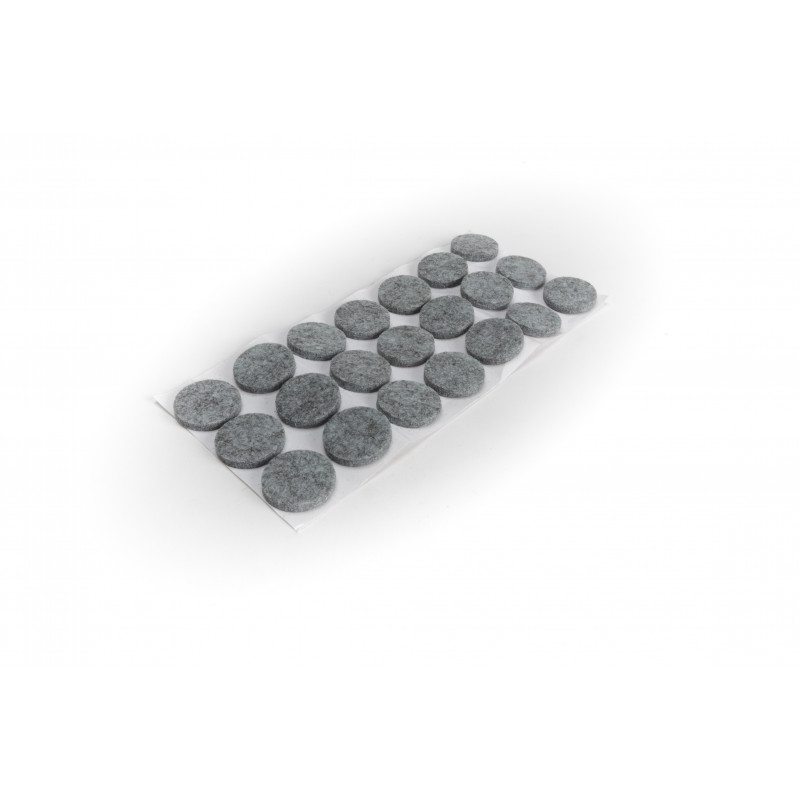 Felt pad Ø28mm, adhesive, grey, H-5mm