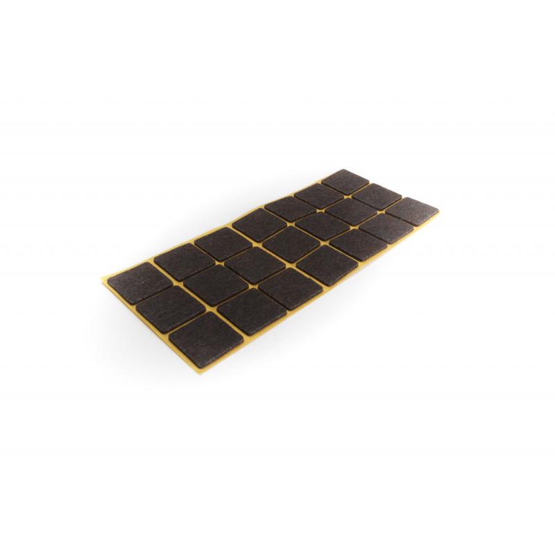 Felt pad 30x30mm, adhesive, brown