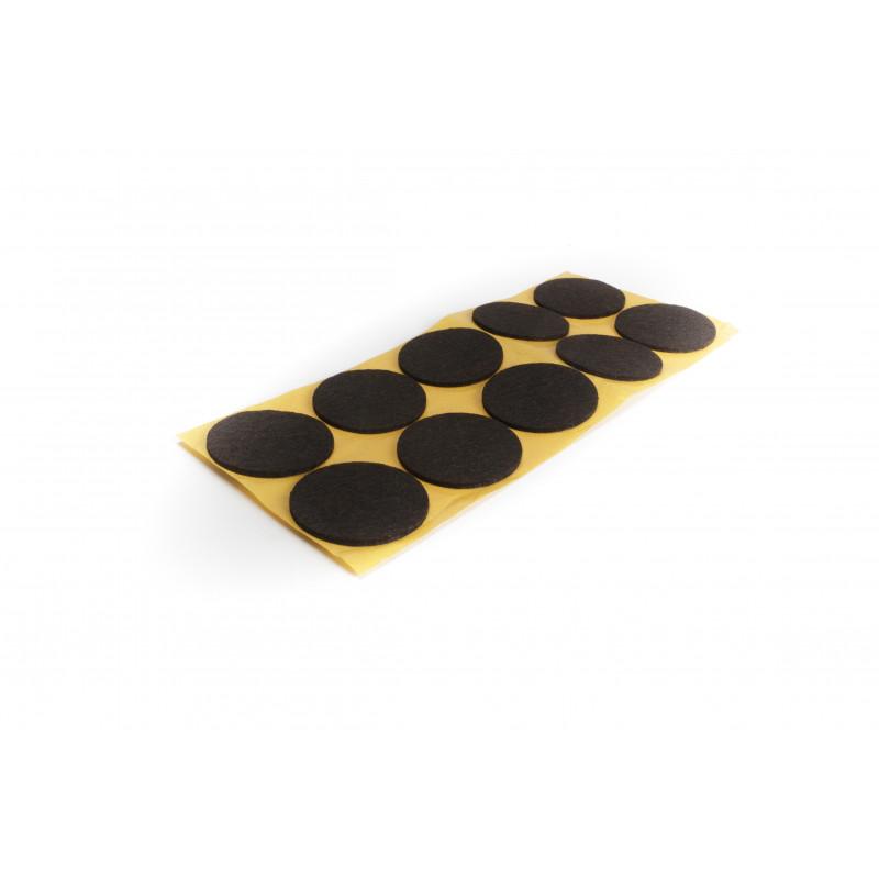 Felt pad Ø50mm, adhesive, brown
