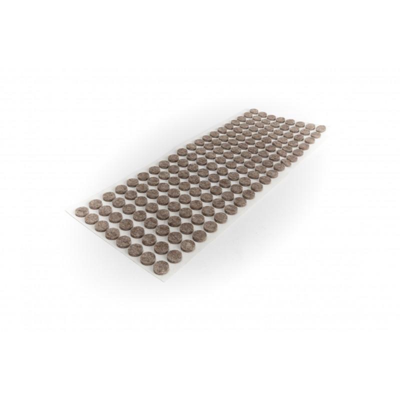 Felt pad Ø10mm, adhesive, brown