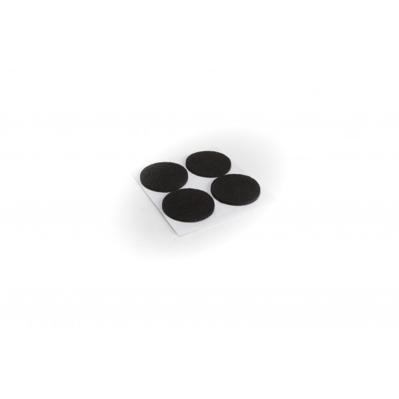Felt pad Ø38mm, adhesive, black, 4pcs