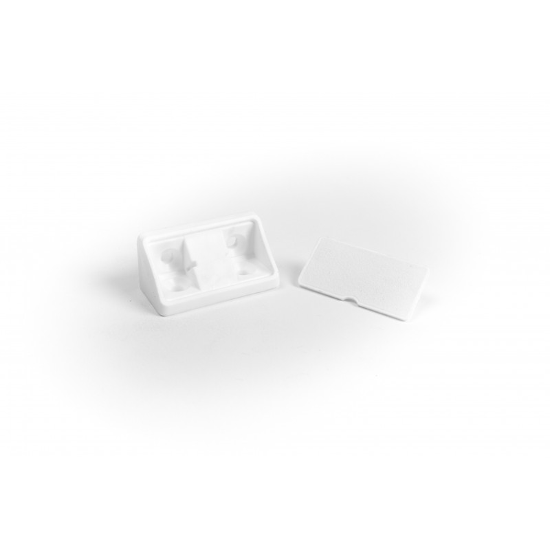Triangle connector 20x20x43mm, wide, white
