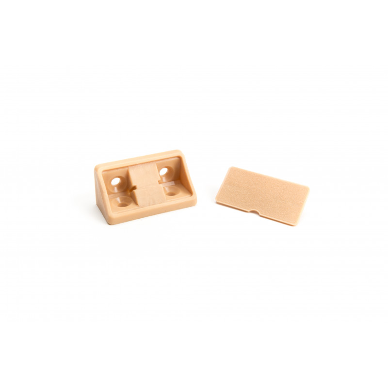 Triangle connector 20x20x43mm, wide, beech