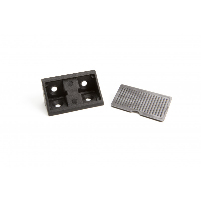 Triangle connector 20x20x43mm, wide, black