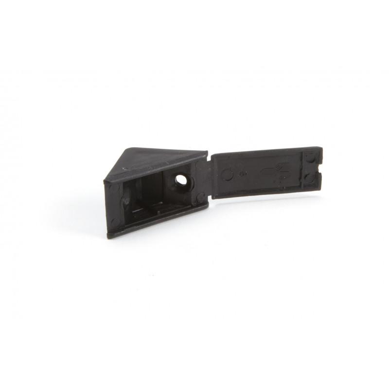 Jungtis 20x38mm, kampinė, vienguba, juoda matinė