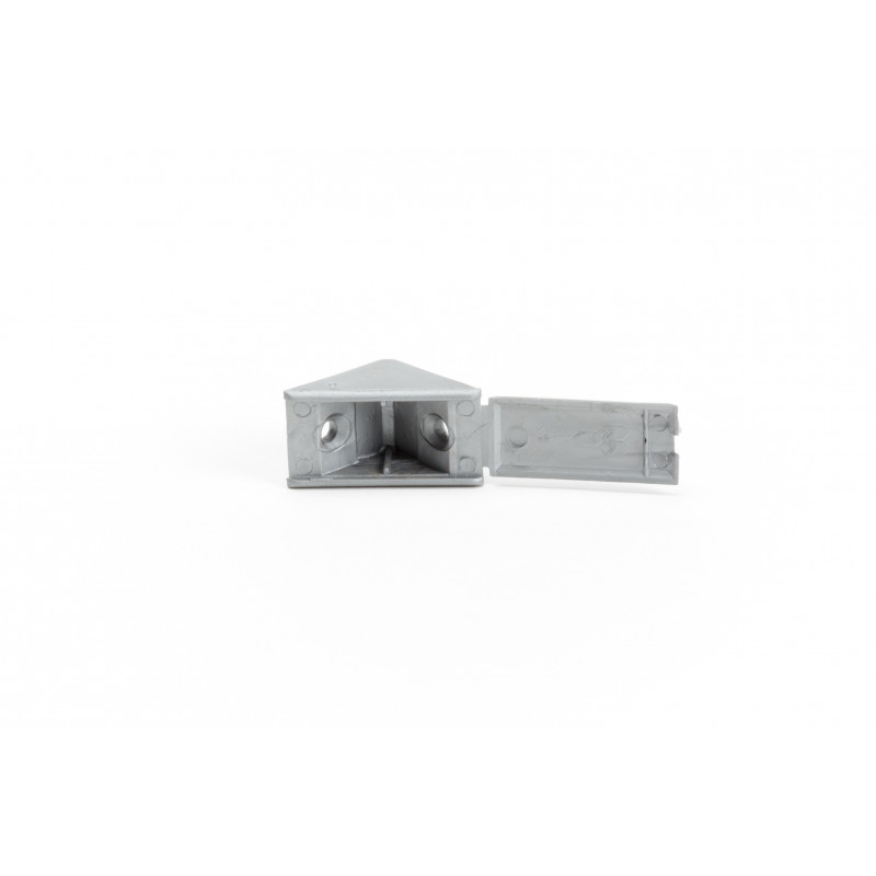 Triangle connector 20x38mm, single, grey
