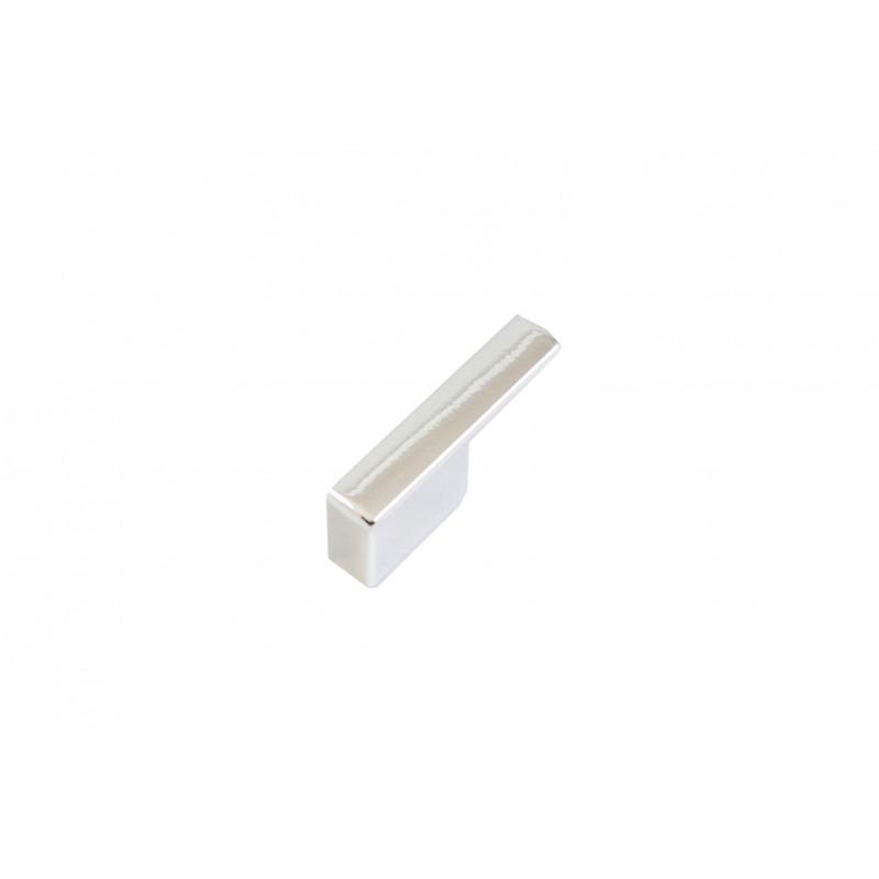 Pakaba, L=48mm, blizgaus chromo, vieno kalblio, plastikinė
