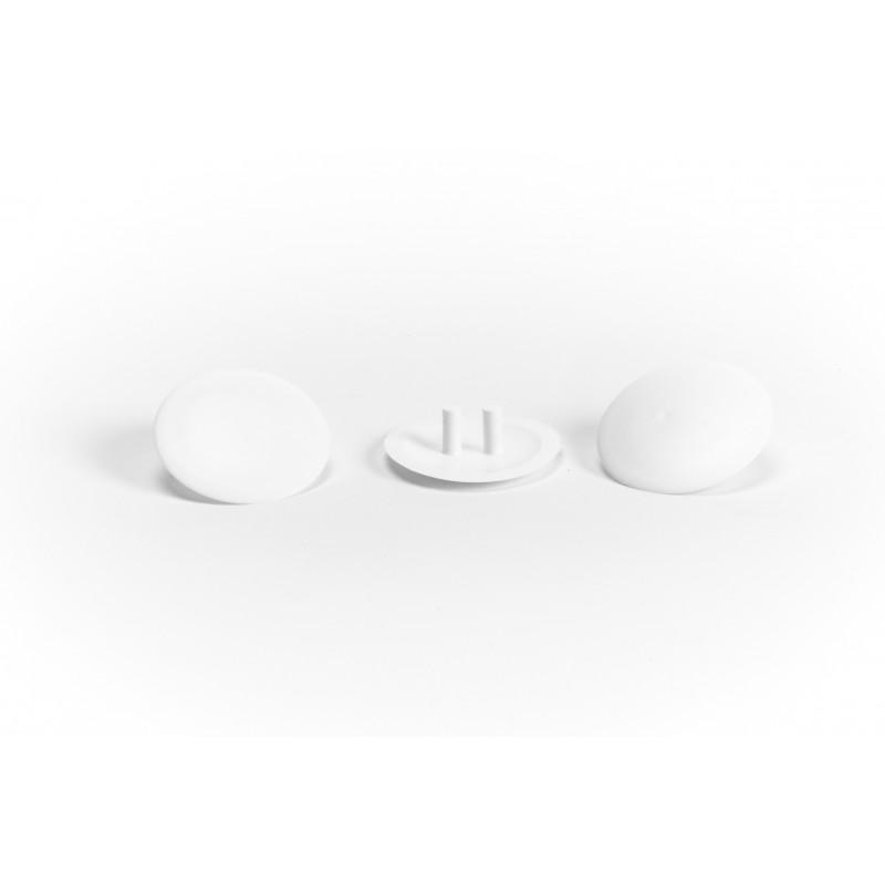 Cover cap Ø30mm, plastic, white