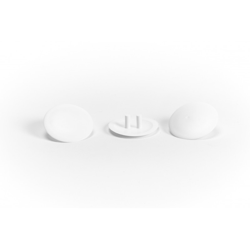 Dangtelis Ø30mm, plastikinis, baltas
