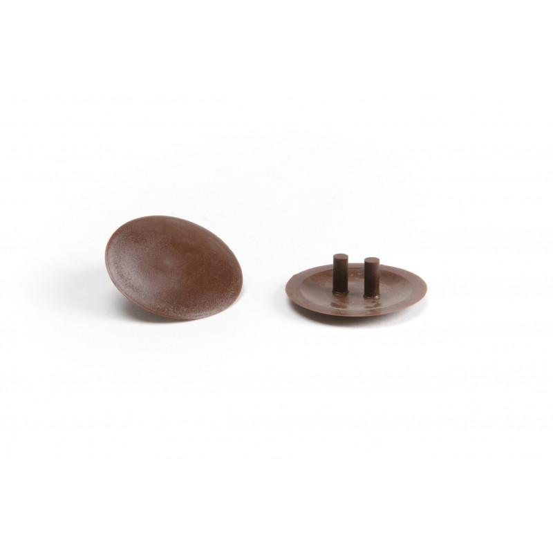 Cover cap Ø30mm, plastic, brown