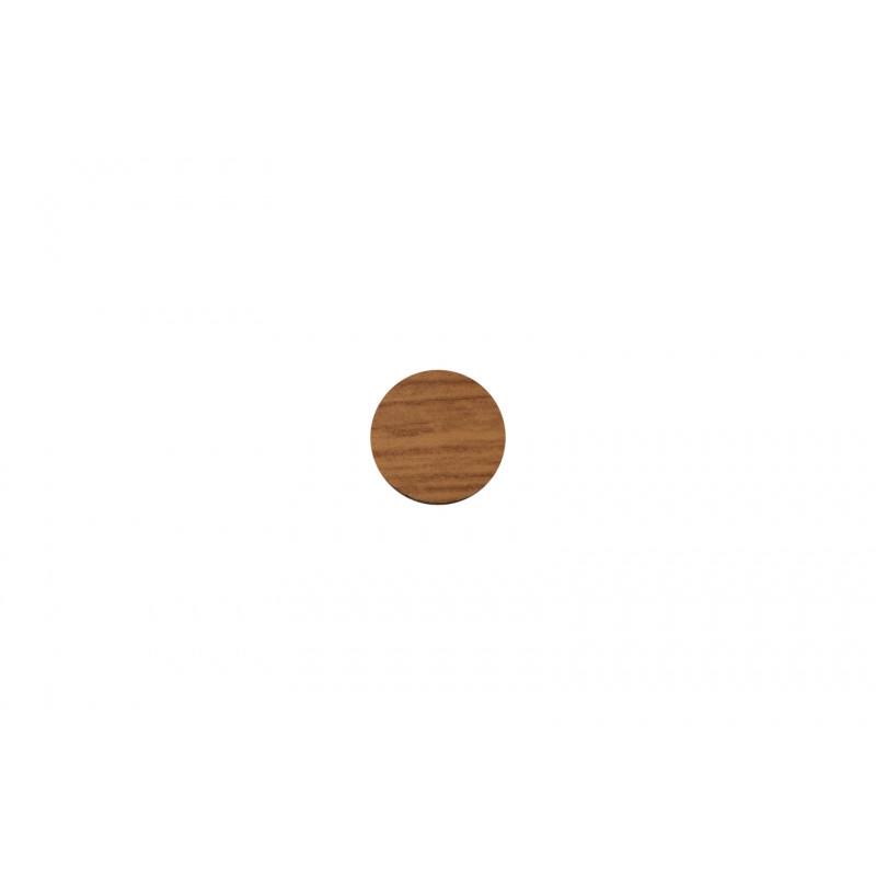 Cover cap, Ø20mm, adhesive, oak