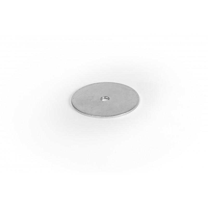 Cover cap Ø58/M8/2mm, steel, coated in white zinc