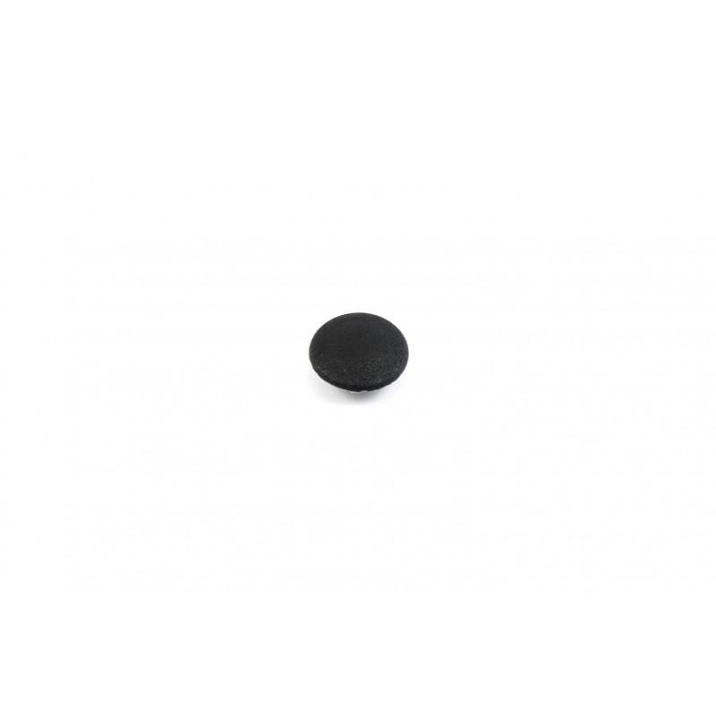 Cap 4x12mm, plastic, hammered, black, No.9