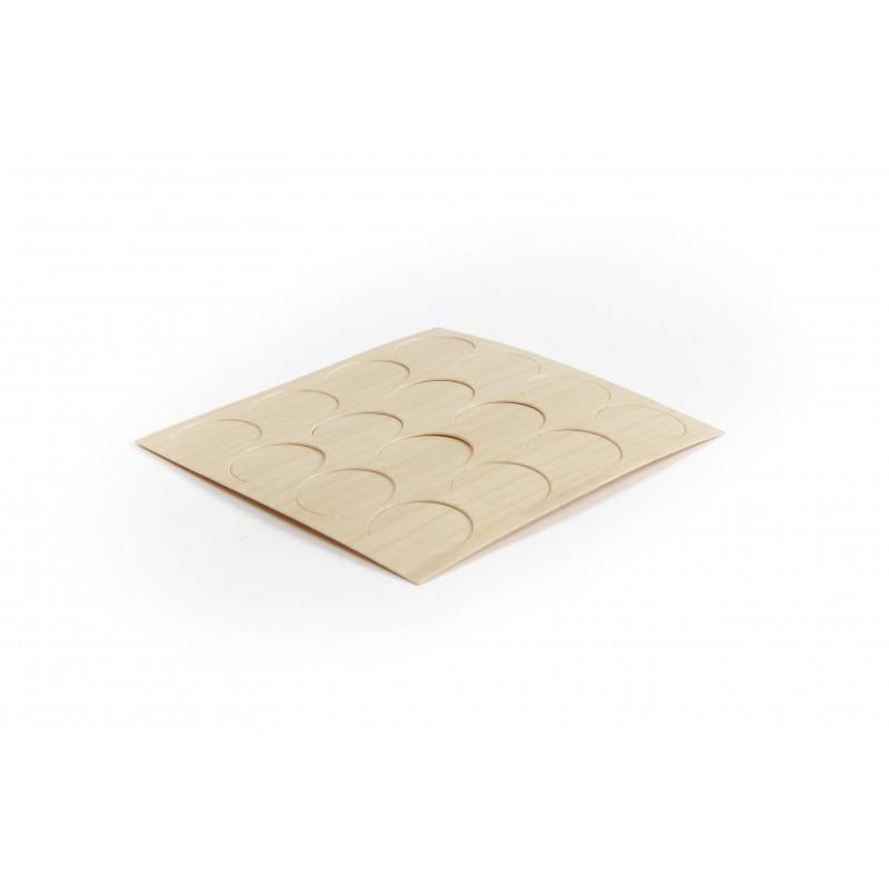 Cover cap Ø17.4mm, adhesive, ash