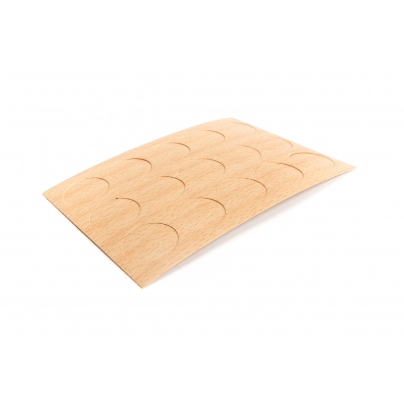 Cover cap Ø20mm, adhesive, beech