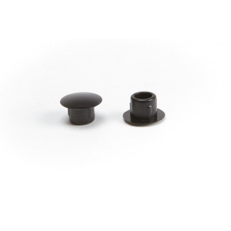 Cover cap Ø8/12mm, plastic, black