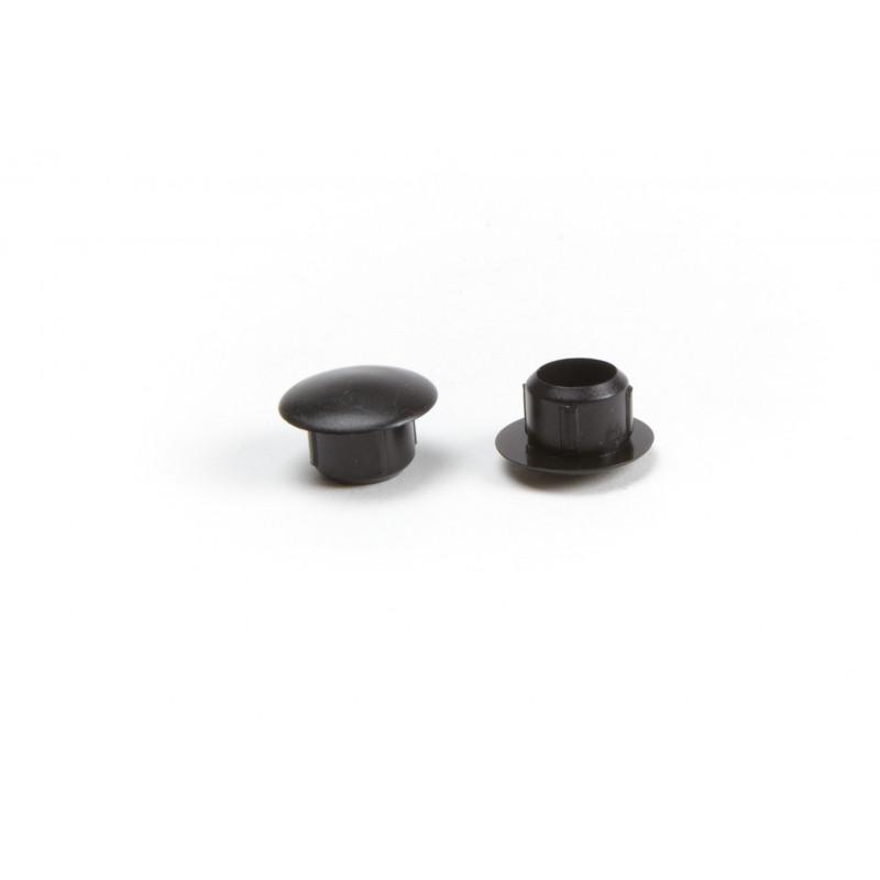 Cover cap Ø10/15mm, plastic, black