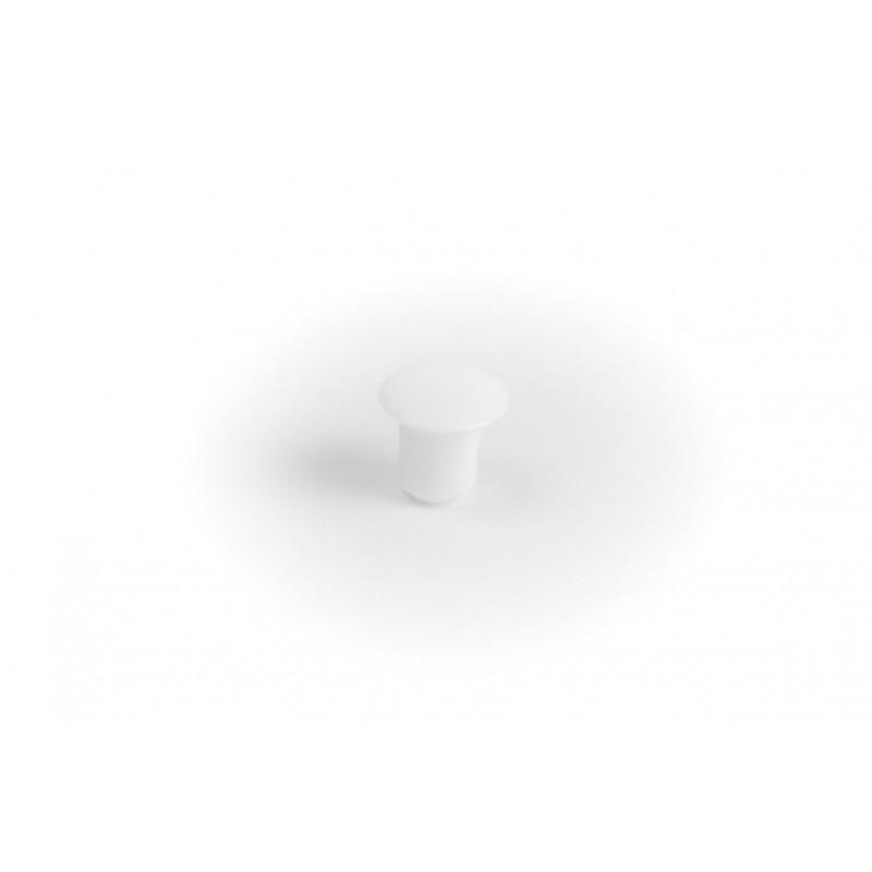 Cover cap Ø5/8mm, plastic, hammered, white