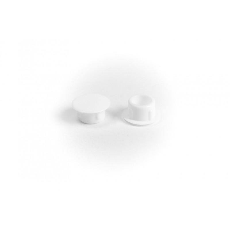 Cover cap Ø10/13mm, plastic, white